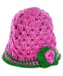 MayRa Knits Flower Cap - Pink