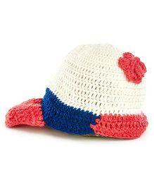 MayRa Knits Sherlock Cap - White