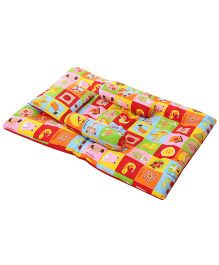 Mee Mee All Over Multi Printed Mattress Set - Multi Color