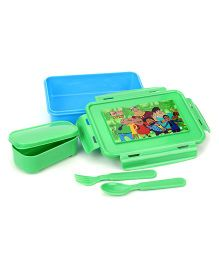 Motu Patlu Lunch Box - Green
