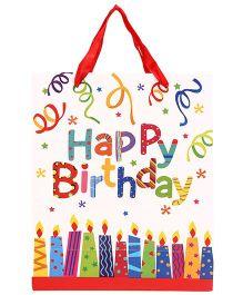 ShopAParty Birthday Cake Gift Bag - White