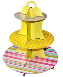 ShopAParty 3 Tier Cupcake Stand - Yellow