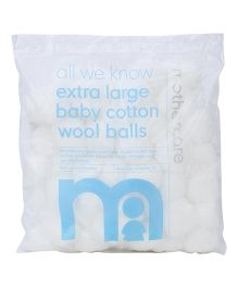 Mothercare All We Know Extra Large Baby Cotton Wool Balls - 50 Pieces