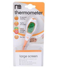 Mothercare Large Screen Digital Thermometer - White And Yellow