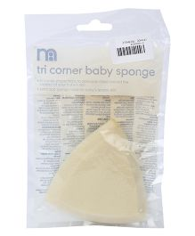Mothercare Tri Corner Baby Sponge - Light Yellow