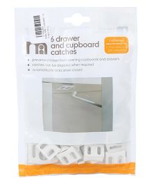 Mothercare 6 Drawer And Cupboard Catches - White