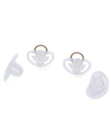 Mothercare Air Flow Silicone Soothers Pack Of 2 - Brown & White