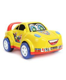 Lovely Friction Star Car Toy - Yellow