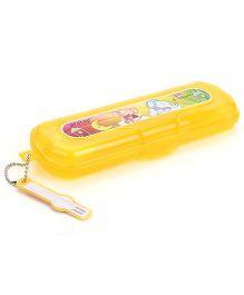 Pratap Hy Design Junior Plastic Pencil Box  - Yellow