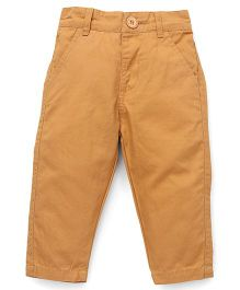 Baby League Full Length Twill Pants  - Mustard Yellow