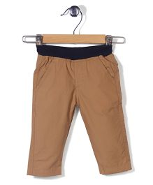 Baby League Pull On Pants - Khaki Navy
