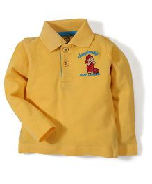 Baby League Full Sleeves Polo T-Shirt - Yellow