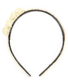Many Frocks & Beads & Hairband Flowers - Cream