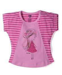 Baby League Short Sleeves Top - Pink