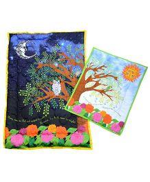 Tura turi Chanda Suraj Print Quilt - Multicolour