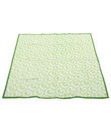 Tura Turi Muslin Pyaare Panchhi Blanket - Green