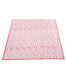 Tura Turi Muslin Pyaare Panchhi Blanket - Pink