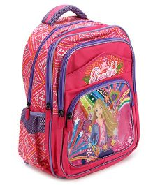 Bags & Baggage School Bag Multi Print Pink And Purple - 15.3 Inches