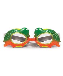 Poolmaster Turtle Animal Frame Child Swimming Goggles - Green & Orange