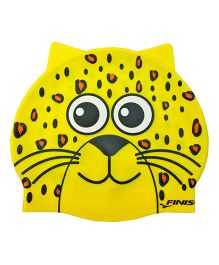 Finis Leopard Silicon Swimming Cap - Yellow