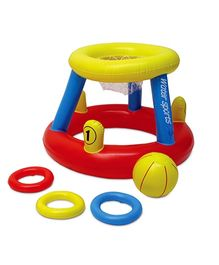 Poolmaster Water Basketball With Ring Toss Game - Multi Color