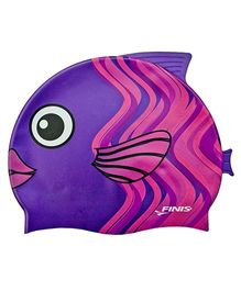 Finis Coral Fish Silicon Swimming Cap - Purple & Pink