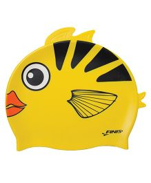 Finis Angel Fish Silicone Swimming Cap - Yellow & Black