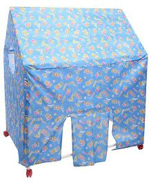 Lovely Play Tent House Bunty Print - Blue