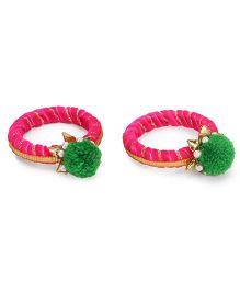 Soulfulsaai Ethnic Bangles - Pink