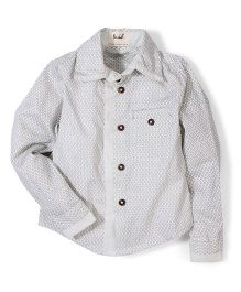 Pinehill All Over Printed Shirt - Off White