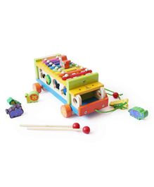 Shumee Musical Animal Truck - Pull Along Shape Sorter