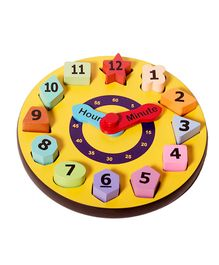 Shumee Shape Sorting Wooden Clock