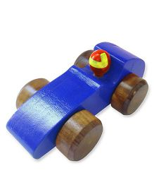 Shumee Wooden Race Car - Blue