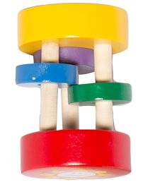 Shumee Wooden Sunny Rattle - Multi Color