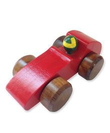 Shumee Wooden Race Car - Red