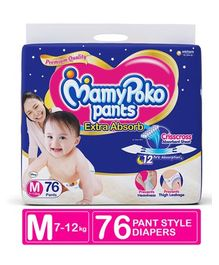 Mamy Poko Extra Absorb Pant Style Diapers Medium - 76 Pieces