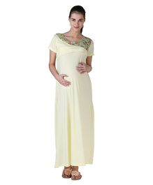Morph Maternity Nursing Gown - Creamish Yellow