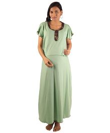 Morph Maternity Nursing Gown - Green