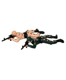 Adraxx Realistic Crawling And Shooting Commando Toys - Black And Pink