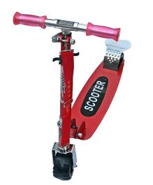 Adraxx 100 mm Tractor Wheel Aluminium Scooty - Red