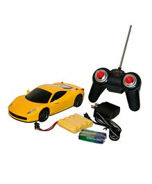 Adraxx Die Cast Metal Remote Control Car - Yellow