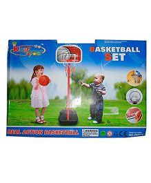Adraxx Mini Basketball Net And Ball - Multicolor