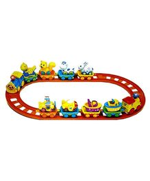 Adraxx Electric Toy Train With Track Set - Multicolor