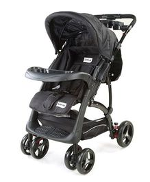 Luv Lap Baby Sports Stroller With Canopy Black - 18158