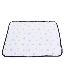 Fox Baby Blanket Star Design - Navy White