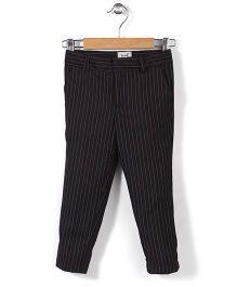 Pinehill Full Length Stripe Trouser - Black