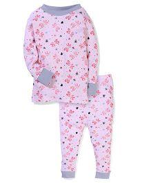 New Jammies Full Sleeves Night Suit - Light pink