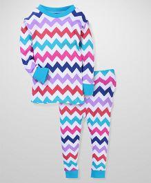 New Jammies Full Sleeves Night Suit - Multicolour