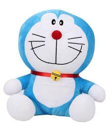 Doremon Sitting Soft Toy Blue White - 16 Inches
