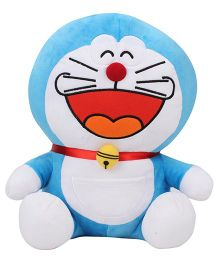 Doremon Laughing Soft Toy Blue White - 12 Inches